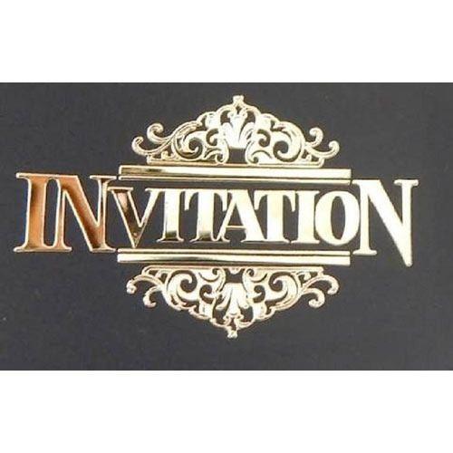 gold invitation sticker metal stickers unitack dials private