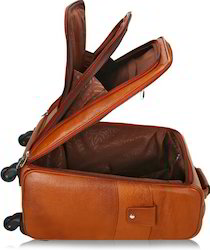Iqra Brown Four Wheel Trolley Bag, for Travelling