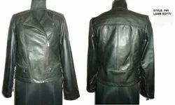 Black Ladies Leather Jackets