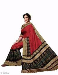 Bhagalpuri Silk Saree, Machine, 6.3 m (with blouse piece)