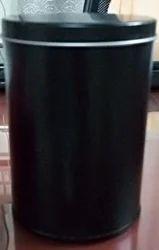 Black Round Tin Box