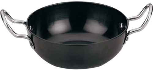 Black Hard Anodized Aluminium Deep Karahi, For Home