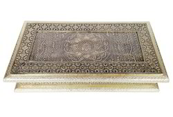 Wood Antique Flower Designed Wooden Handmade Diwali Gift Box, LC-DB-42-13x7