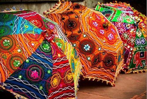 Embroidered Decorative Umbrella