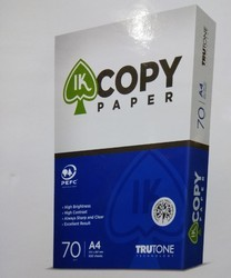 Ik Copy Multi Purpose Copy Paper A4 70gsm, Packing Size (Sheets Per Pack): 500.0