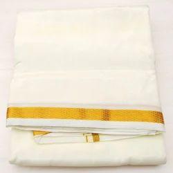 Scot Wilson Pure Silk Dhoti and Angavastram