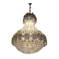 Incandescent Bulb Metal and Glass 240V Crystal Hanging Chandelier