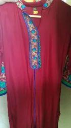 Red Cotton Punjabi Dress