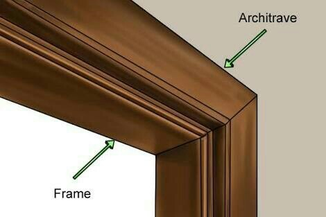 Door Frame With Architrave & Door Frame With Architrave at Rs 10000 /piece | Wooden Door Frame ...