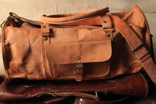 2bece84bb885 Leather Duffle Bag
