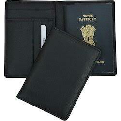 25bcc2af2 Brown Pooja Exports RFID Data Protection Leather Passport Holder ...