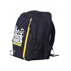 Black And Yellow Salute Backpacks