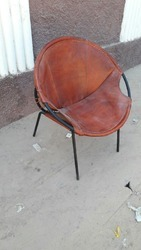 Round Chair With Leather