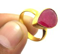 Gemstone Dyed Ruby Ring