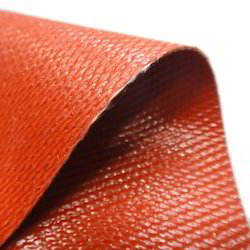 Orange Silicone Rubber Coated Fiberglass Cloth
