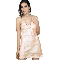 75761a2d7d Designer Mini Nighty in Pink Net 513