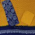 Blue Bandhani Dress Material