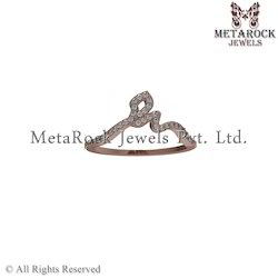 Fashion Design 14K Rose Gold Diamond Ring