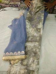 Ladies Chanderi Suit Material