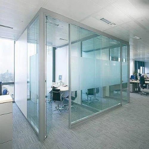 Glass Plain Office Partitions Shape Rectangular Rs 430
