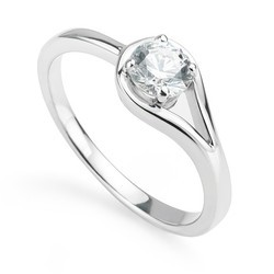 Solitaire Diamond Ring, Size: 14 Indian [USA 7.0]