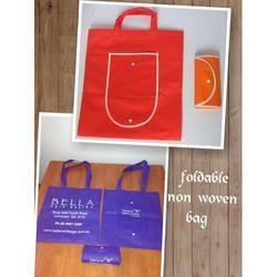 Printed Handled Foldable Non Woven Bag, Capacity: 3 Kg
