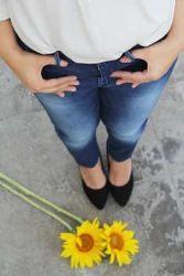 Ladies Streak Blue Jeans