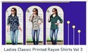 Ladies Classic Printed Rayon Shirt