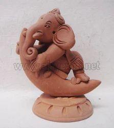 Moon Ganesha Modern Statue