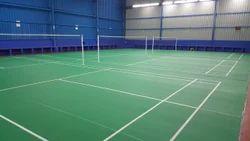 Interlocking Rubber +top Pvc Badminton Court Construction, Order Base, Tamil Nadu