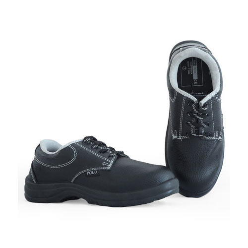 f8f52ac26cb Synthetic Leather Black Polo Safety Shoes
