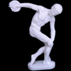 Man Throwing Discus In Resin Sports Statue
