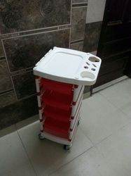 Red N White Hair Beauty Trolley