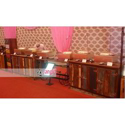 Jangid Art & Crafts Multicolor Wooden Catering Counter, for Wedding Decoration