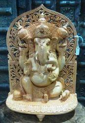 Wooden Ganesha Statue