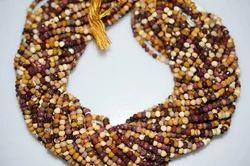 Mookaite Jasper Faceted Rondelle Beads Strand