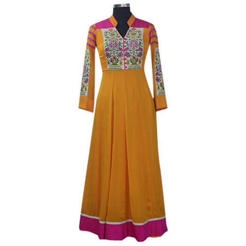 Party wear Yellow Ladies Suit