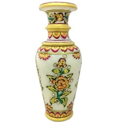 Meenakari Work Marble Flower Vase MB143