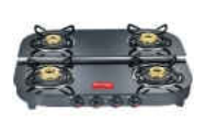 Four Burner Glass Top Gas Stove