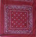 Black Cotton Square Printed Bandana