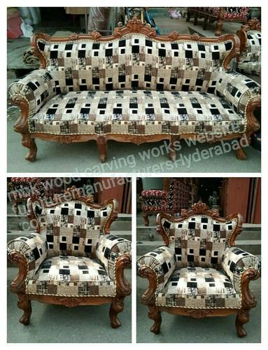 Hand Carving Wooden Sofa Set