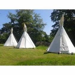 天然白色发球件小便泰迪帐篷,大小:16英尺
