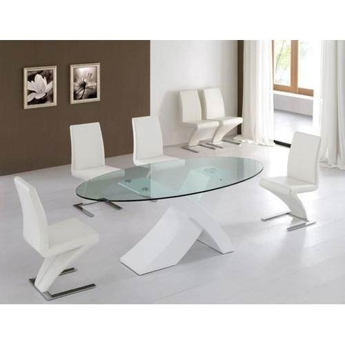 Oval Shaped Glass Top Dining Table Glass Dining Room
