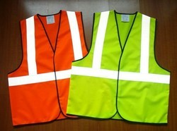 Without Sleeves Polyester Safety Jackets, For Construction