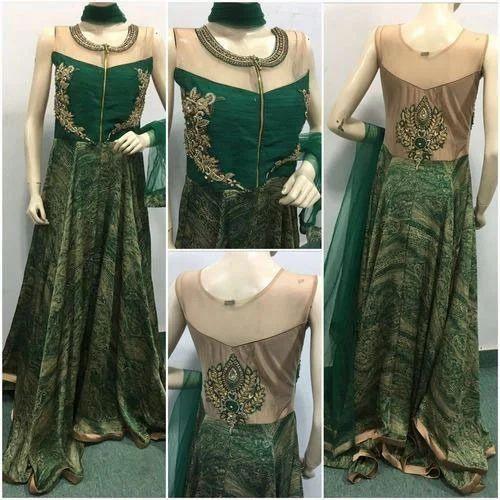 Ladies Gown Style Suit at Rs 3500 /piece   Ladies Gown Suit, Ladies ...