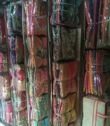 Plain, Printed Saree