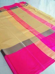 Ladies Cotton Plain Saree, 6.3 m (With Blouse Piece)