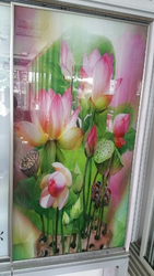 Flowers Design Glass