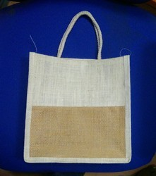 Jute Bag Double Colour Pattern