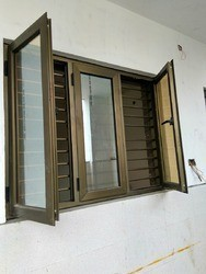 PU Coating / Colour Anodized Z Series 3in1 Windows, Size: 48*48